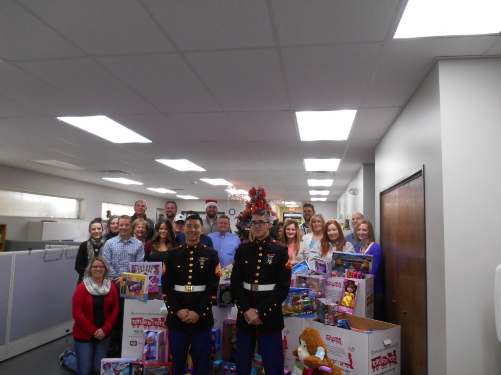 Toys For Tots Charity Event : Kloeckner metals raises over toys in for tots