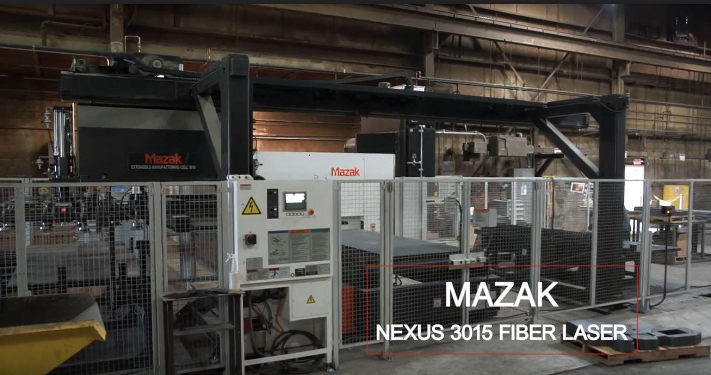 Mazak Nexus 3015 Fiber Laser   Kloeckner Metals Corporation