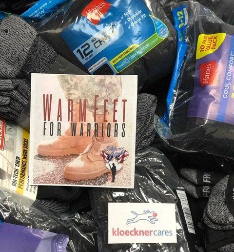 KloecknerCares Warm Feet for Warriors Charity