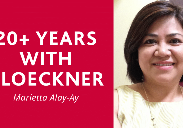 20+ Years with Kloeckner - Marietta Alay-Ay