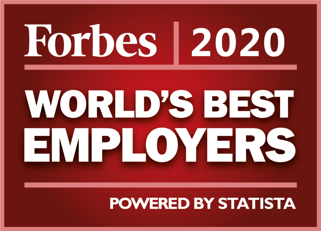 Forbes 2020 World's Best Employers banner