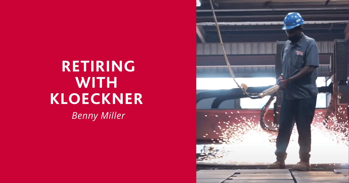 Benny Miller Retiring with Kloeckner