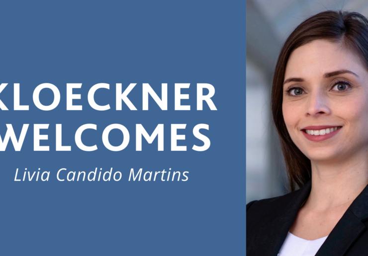 Kloeckner Welcomes Livia Candido Martins